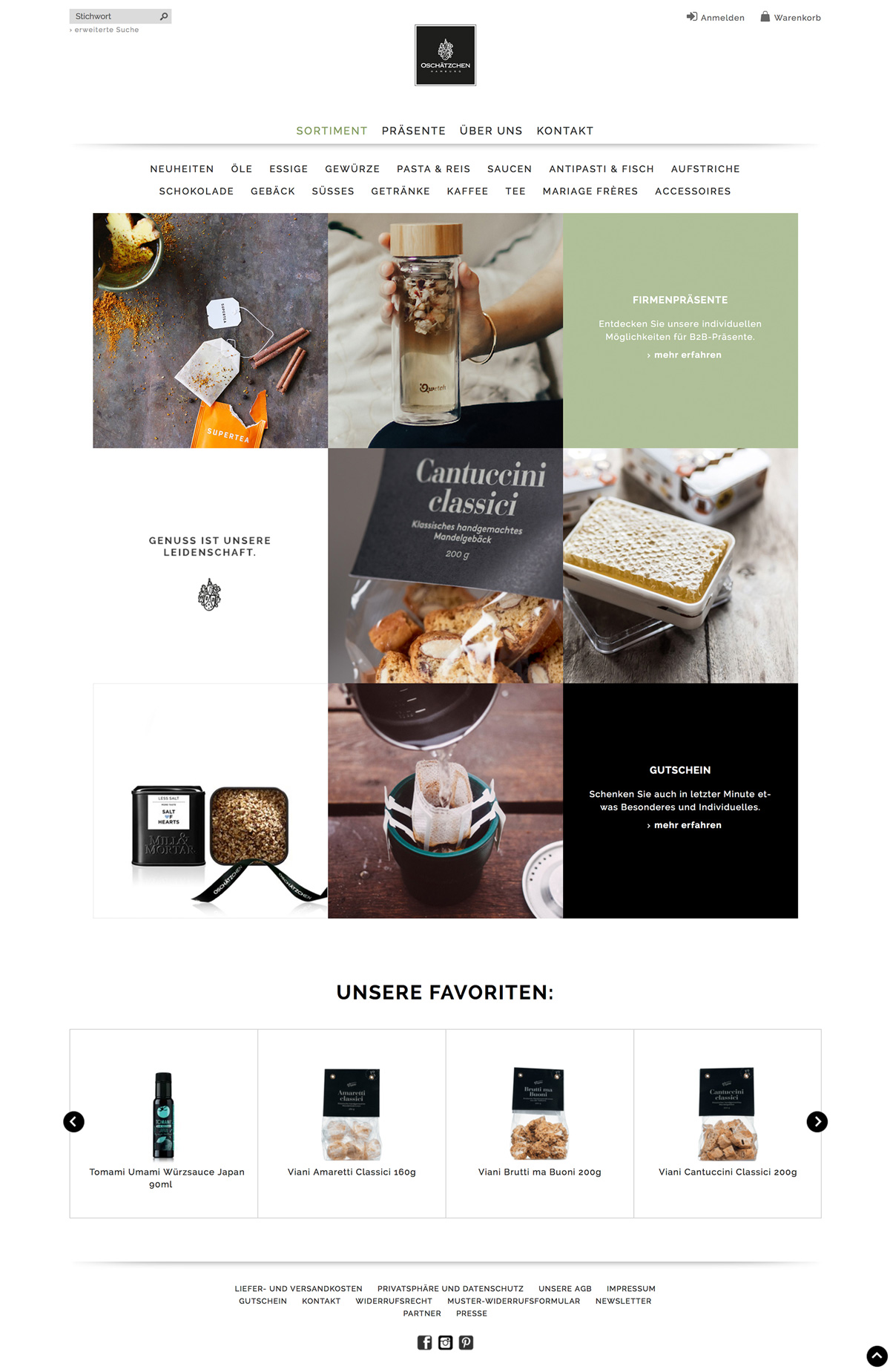 Online Shop User Interface Design